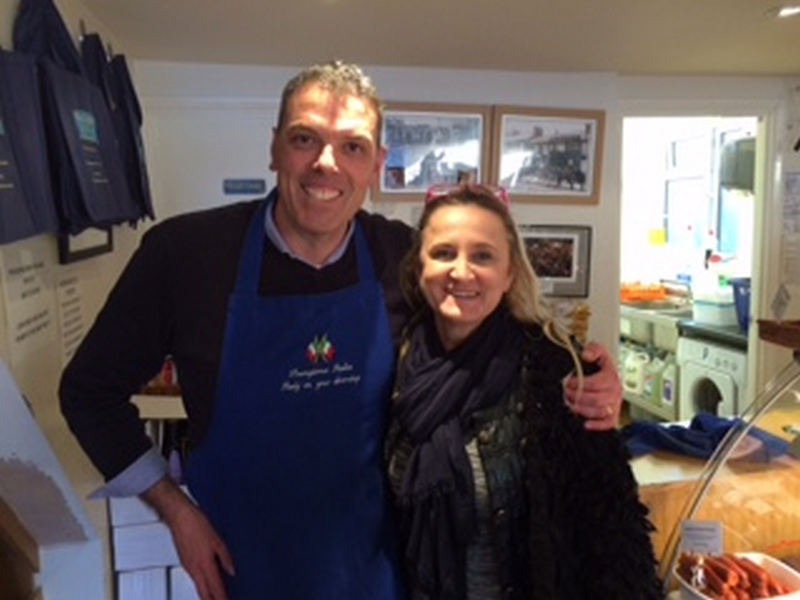 Gothenburg deli owner Radana Maric comes to visit